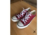 Converse All Stars, size 4, as new. Lovely red colour. Excellent condition. Super comfortable.