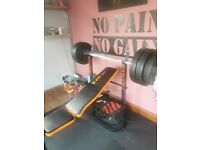 Weight bench with 130kg weight