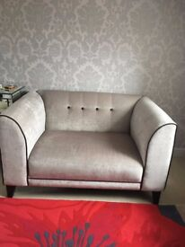 DFS VISTA CUDDLER CHAIR GREY. OTHER ITEMS AVAILABLE. OFFERS CONSIDERED.