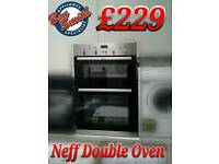 Neff Built - in Double Oven Stainless Steel Black