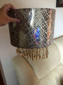 Gold/mink droplet lampshade
