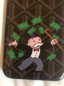 iPhone X case Monopoly man