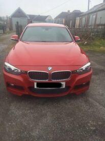 BMW 318D Msport red