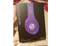 Brand new, never worn purple beats by dr. Dre
