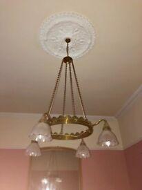 Gold light fitting