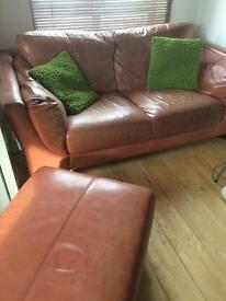 DFS real leather sofa