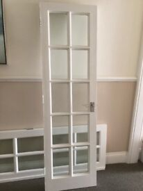2 French doors, internal, white, solid wood, 582x1981 mm for 10 GBP