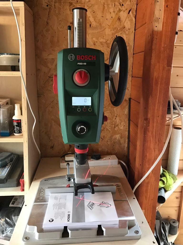 bosch pbd 40 bench drill mains electric 240v in stoke on. Black Bedroom Furniture Sets. Home Design Ideas