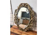 Lovely Ornate Painted Wooden Framed Mirror