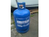 Unused 15kg calor gas bottle