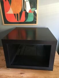 Ikea Lack Coffee/TV Table 55cm by 55cm Brown-Black