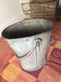 Large Metal Coal Bucket