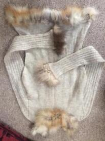 Hare fur jumper size 8