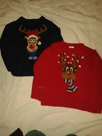boys 4-5 year clothes bundle including winter coat& christmas jumpers