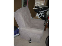 CareCo Henley Wingback Riser Recliner Dual Motor Chair in Latte