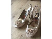 Schuh sling back and peep toe event/wedding shoes size 5