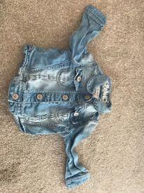 Next baby denim jacket 9-12 months