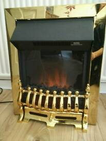 Brass Electric inset fire (Homebase)