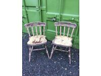 10 solid wooden farmhouse chairs £5 EACH