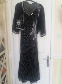 Black evening dress and jacket