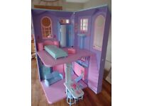 barbie house - folds away when not in use. 2 floor