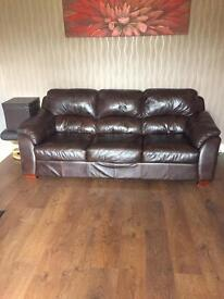 Brown leather 3 and 2 seater need gone ASAP!!