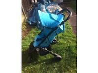 B mobile turquoise stroller pram