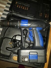 nupower cordless drill witch charger and battery