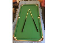 Snooker and pool table. Excellent condition