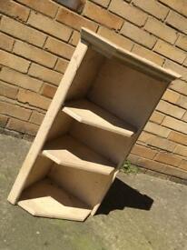 Vintage shabby chic corner shelving unit