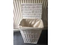 Lovely linen basket in White