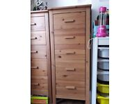 Antique Pine Tallboy Chest of Drawers – 2 available