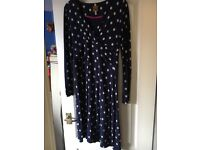 Joules spotted jersey wrap dress