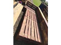 Wooden garden furniture (pallet style)