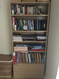 Book case with 2 drawers