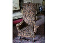 Antique brown chair