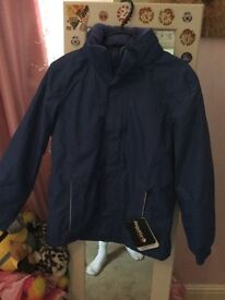 Childs unisex royal blue regatta jacket size 11-12 with tags