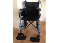 Wheelchair. Lightweight with folding frame