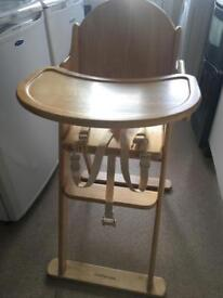 Mothercare wooden folding high chair