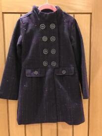 Girls smart coat purple glitter age 7-8 George