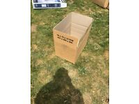 """20 used double walled cardboard boxes 30""""x 20""""x 20"""" (46 x 31 x 341 cm)for removals."""