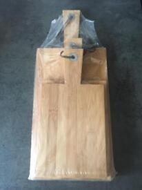 X3 Brand New Wooden Chopping Boards