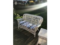 Wicker two seater chair & table set