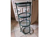 Cast Iron Vegetable Rack with matching Cook Book Stand