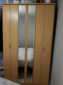 Wardrobe with mirrors