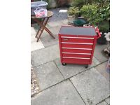 5 drawer Clarke trolley tool chest of drawers with lock key