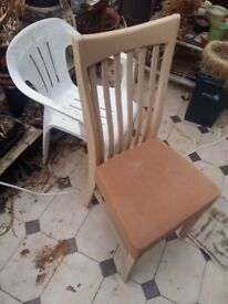 5x Used Beige kitchen chairs in OK condition