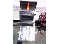 Oven and grill a nd gas hob with hood
