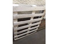 2 x White Wooden Shabby Chic Upcycled Painted Pallets