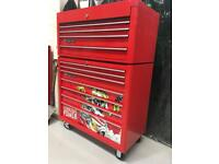 Tool box. Roll cab and top box